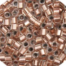 Copper Crystal Lined, Colour Code 0037, Size 11/0 Delicas, 50gm bag