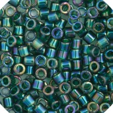 Dark Green AB, Colour Code 0175, Size 11/0 Delicas, 5.2g approx.