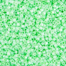 Light Crystal Green Ceylon Lined-Dyed, Colour Code 0237, Size 11/0 Delicas, 5.2g...