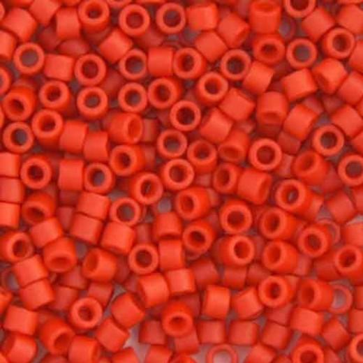 Orange Cinnabar Opaque Matte-Dyed, Colour Code 0795, Size 11/0 Delicas, 5.2g approx.