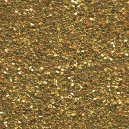 24Kt Bright Gold Hex Cut Miyuki Size 15/0 Delica, Colour code 0031, 25gm wholesale pack