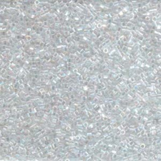 Crystal AB Hex Cut Miyuki Size 15/0 Delica, Colour code 0051, Approx. 5.2g