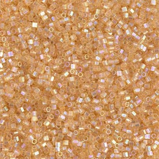Light Amber Transparent AB, Colour code  100 Size 15/0 Cut Delicas, 5.2g approx.