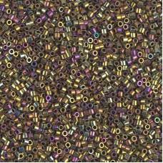Metallic Golden Olive Iris Miyuki 15/0 Delicas, colour 0029, 5.2g approx.