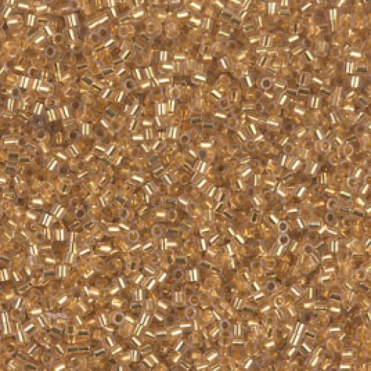 24KT Gold Lined Crystal Miyuki 15/0 Delicas, colour 0033, 3.3g approx.