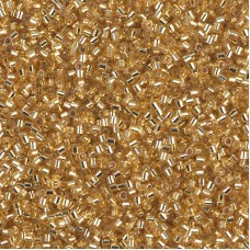 Silver Lined Gold Colour  0042 Size 15/0 Delicas, 5.2g approx.
