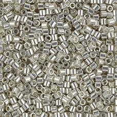 Silver Galvanised Size 8/0 Miyuki Delica, Colour Code 0035, 5.2g approx.