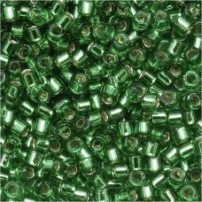 Green Silver Lined Size 8/0 Miyuki Delica, Colour Code 0046, 5.2g approx.
