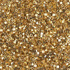 10/0 Cut Delica Gold 24kt Transparent AB Plated Colour Code -31,  3.3gm approx.