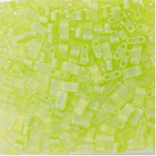 Matted Transparent Chartreuse AB Miyuki Half TILA Beads, Colour 0143FR, 5.2g app...