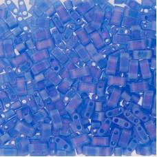 Matted Transparent Sapphire AB Miyuki Half TILA Beads, Colour 0150FR, 5.2g appx.