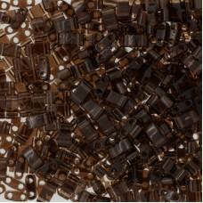 Transparent Brown Miyuki Half TILA Beads, Colour 0135, 5.2g appx.