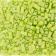 Opaque Chartreuse Matted AB Miyuki Half TILA Beads, Colour 0416FR, 5.2g appx.