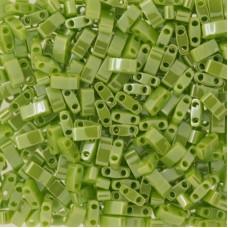 Opaque Chartreuse Luster Miyuki Half TILA Beads, Colour 0439, 5.2g appx.