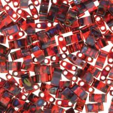 Picasso Transparent Garnet Miyuki Half TILA Beads, Colour 4504, 5.2g appx.