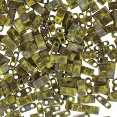 Picasso Opaque Yellow Miyuki Half TILA Beads, Colour 4519, 5.2g appx.