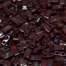 Picasso Opaque Red Miyuki Half TILA Beads, Colour 4521, 5.2g appx.