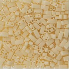 Opaque Ivory Miyuki Half TILA Beads, Colour 0491, 5.2g appx.