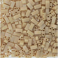 Opaque Pear Matted AB Miyuki Half TILA Beads, Colour 0493FR, 5.2g appx.