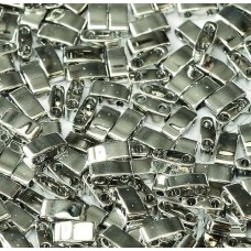 Crystal Labrador Full Miyuki Half Tila Beads, code 55006, 50g approx