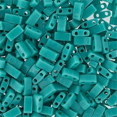 Turquoise Opaque Luster, Miyuki Half Tila Beads, code 0412  50gm bag