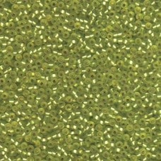 Silver Lined Matte Chartreuse 11/0 Miyuki Seed Bead Miyuki colour 14F, 22grms ap...