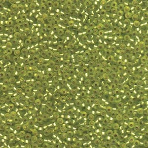 Silver Lined Matte Chartreuse 11/0 Miyuki Seed Bead Miyuki colour 14F, wholesale pack of 250grms approx.