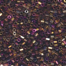 Purple Metallic Gold Hex Cut Size 8/0 Delica, 50gm bagr, Colour Code -0029
