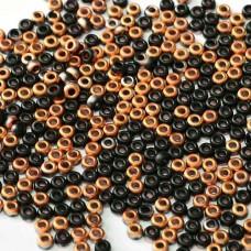 Bulk Bag Jet Matted Sunset Coated Beads, colour 55123 250gm