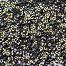 Bulk Bag Jet Vitrail Coated Beads, 250gm