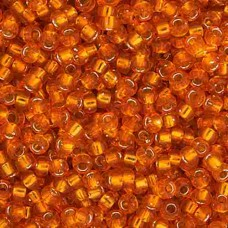 Orange Silver Lined  Colour -0008 Miyuki 15/0 Seed Beads, 8.2gm apprx.