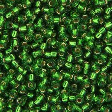 Green Silver Lined  Colour -0016 Miyuki 15/0 Seed Beads,8.2g apprx.