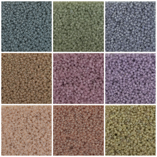 Translucent Miyuki 11/0 Seed Bead collection - 9 colours, 198g in total