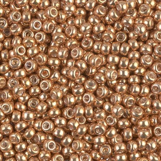 Yellow Gold Galvanized Miyuki Size 8/0 Colour  1052, 22gm