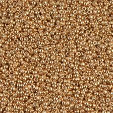Galvanized Yellow Gold Miyuki 11/0 Seed Beads, 22g, Colour 1053