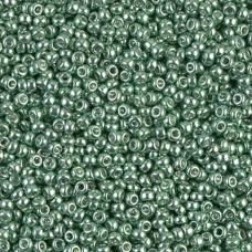 Galvanized Sea Green Miyuki 11/0 Seed Beads, 22g, Colour 1074