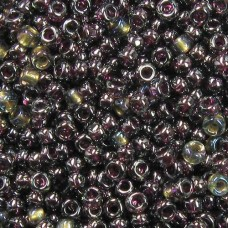 Miyuki Size 11 Seed Beads, Transparent Dark Purple Luster, Colour 0171, 22g Appr...