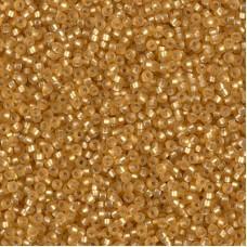 Silver Lined Dark GoldMatte Miyuki 15/0 seed beads, colour 0004F, 8.2g approx.
