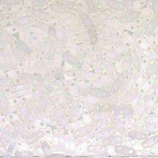 Crystal AB Matte Quarter Tila Bead, colour 131FR, 5.2g approx.