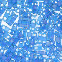 Bulk Bag Capri Blue AB Matte Quarter Tila Bead, colour 149FR, 50g approx.