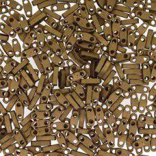 Metallic Green Iris Quarter Tila Bead, colour 2006, 5.2g approx.