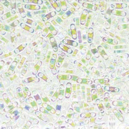 Crystal AB Quarter Tila Bead, colour 250, 5.2g approx.
