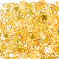Transparent Light Topaz AB Quarter Tila Bead, colour 251, 5.2g approx.
