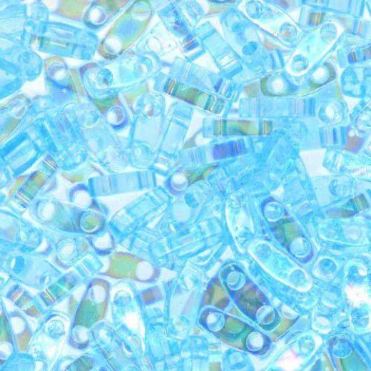 Pale Aqua AB Quarter Tila Bead, colour 260, 5.2g approx.