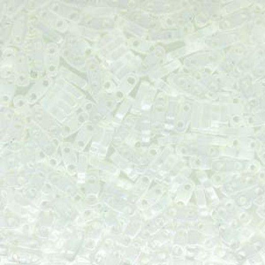 White Opaque Quarter Tila Bead, colour 402, 5.2g approx.