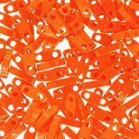 Orange Opaque Quarter Tila Bead, colour 0406, 5.2g approx.