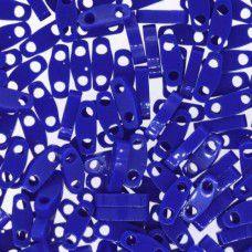 Opaque Cobalt Quarter Tila Bead, colour 414, 5.2g approx.