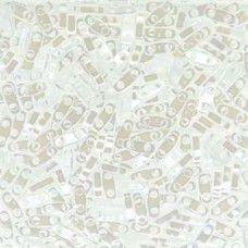 White Pearl Ceylon Quarter Tila Bead, colour 420, 5.2g approx.