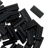 Miyuki Rectangle Beads, 4x7mm, Black - 401, Approx 17 Grams