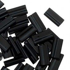Miyuki Rectangle Beads, 4x7mm, Black - 401, Approx 17 Grams